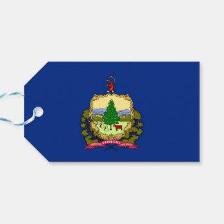 Gåvamärkre med den statliga flagga av Vermont, USA Presentetikett