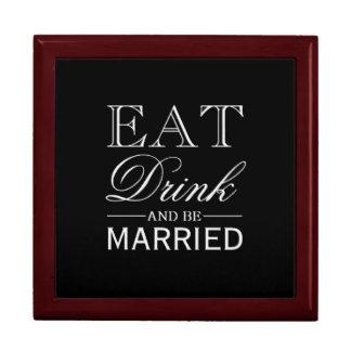 Gåvan boxas | äter drinken och att gifta sig presentskrin