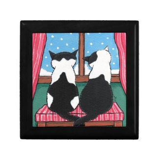 Gåvan för billig prydnadssak för konst för katten presentskrin