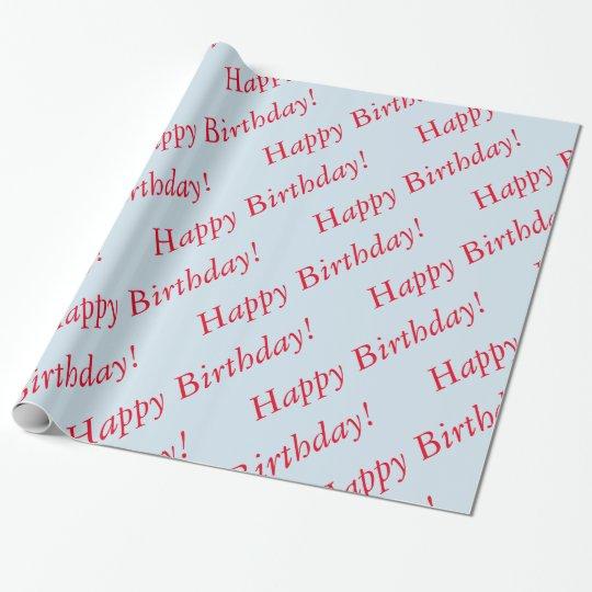 Gåvasjal - grattis på födelsedagen presentpapper