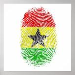 Gåvor 100% för Ghanian Ghana DNA-pride Poster