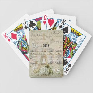 Gåvor 2016 Eiffel tornParis för nytt år Spelkort