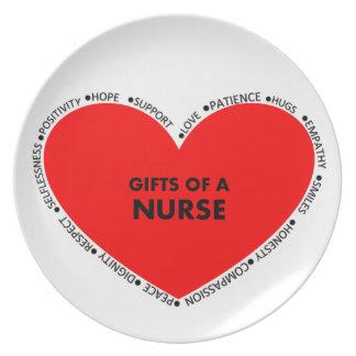 Gåvor av en sjuksköterska tallrik