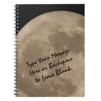 Gåvor för bok för journal för fullmåne för anteckningsbok
