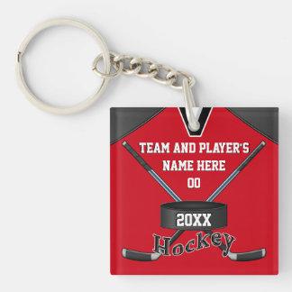 Gåvor för coolapersonlighockey, din TEXT, FÄRGAR Fyrkantigt Dubbelsidigt Nyckelring I Akryl