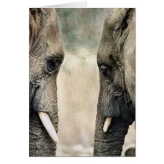 Gåvor för elefantälskarekonst hälsningskort
