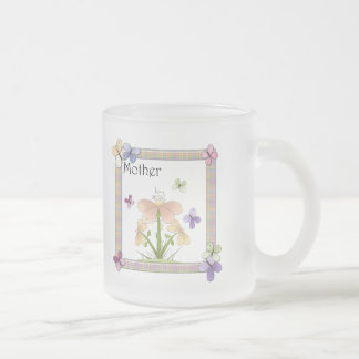 Gåvor för fjärilsblommamors dag frostad glas mugg