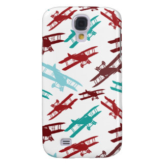 Gåvor för flygare för flygplan för vintageBiplanem Galaxy S4 Fodral