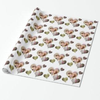 Gåvor för foto för kärlekhjärta gulliga presentpapper
