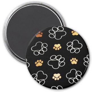 Gåvor för hundvalptass avtryck för hund älskare magnet rund 7.6 cm