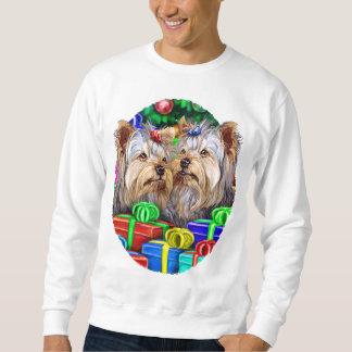 Gåvor för jul för Yorkshire Terrier Lång Ärmad Tröja