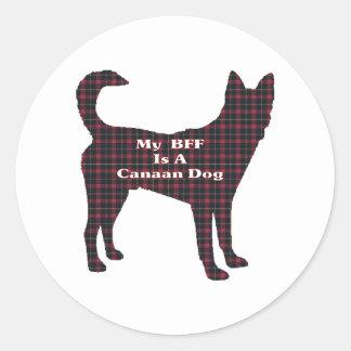 Gåvor för Kanaan hund BFF Runt Klistermärke