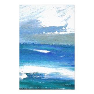 Gåvor för konst för utstrålningOceanscape hav Brevpapper