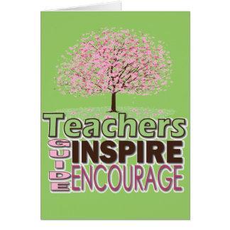 Gåvor för lärare hälsningskort