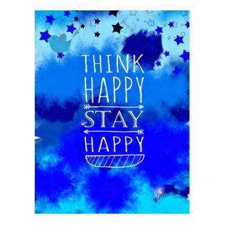 Gåvor för lyckliga tankar för tänka Collectible Vykort