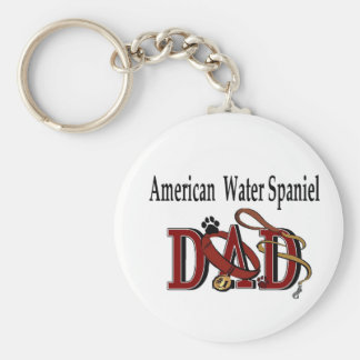Gåvor för pappa för amerikanvattenSpaniel Rund Nyckelring
