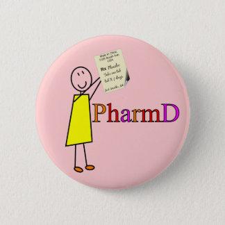 Gåvor för PharmD apotekstudent Standard Knapp Rund 5.7 Cm