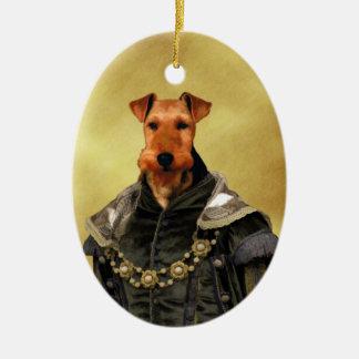 Gåvor för prydnad för walesisk TerrierTudor hertig Julgransprydnad Keramik