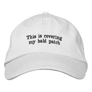 Gåvor för skallig manar - hatt broderad keps