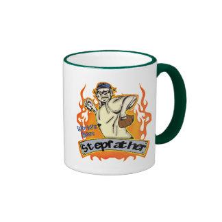 Gåvor för styvfarbaseballfars dag kaffe muggar