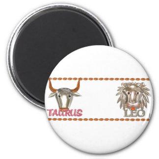 Gåvor för vänskap för Valxart OxenLeo zodiac Magnet