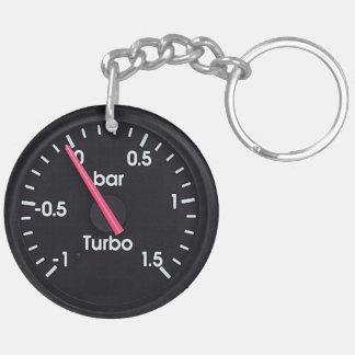 """Gåvor och produkter """"för Turbo mätinstrument"""" Dubbelsidigt Rund Akryl Nyckelring"""