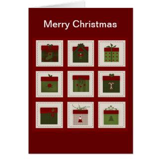 Gåvor och Rudolf julkort Hälsningskort