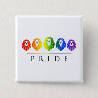 Gay pride av lejon - LGBT Standard Kanpp Fyrkantig 5.1 Cm