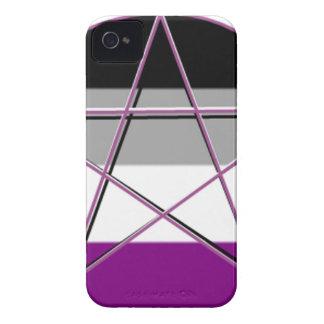 Gay pride Demi panorerar gudinnasymbol iPhone 4 Case-Mate Skal