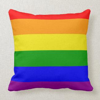 Gay pride färgar regnbågeflagga prydnadskudde