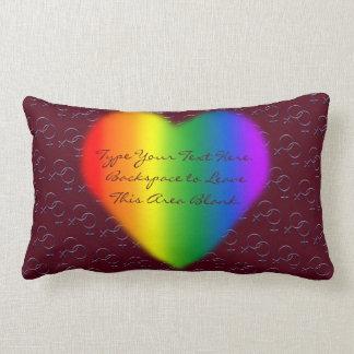 Gay pride kudder den beställnings- lumbarkudde