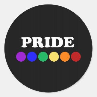 Gay pride pricker klistermärkear runt klistermärke