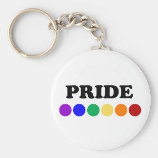 Gay pride pricker LGBT-regnbågen Keychain Rund Nyckelring