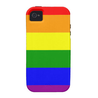 Gay Pride Rainbow Flag Case-Mate iPhone 4 Cases
