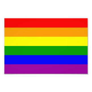 Gay prideflagga fototryck