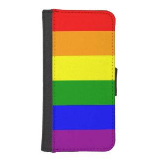 Gay prideflagga plånboksskydd för iPhone 5