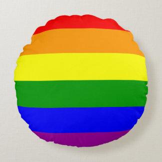 Gay prideflagga rund kudde