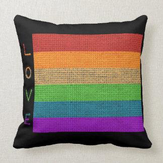 Gay prideregnbågeflagga kudder kudde
