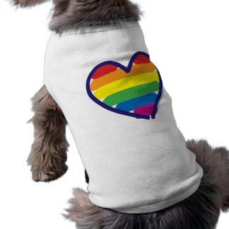 Gay prideregnbågehjärta hundtröja