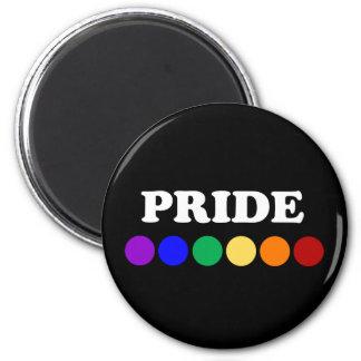 Gay prideregnbågen pricker magneten magnet rund 5.7 cm