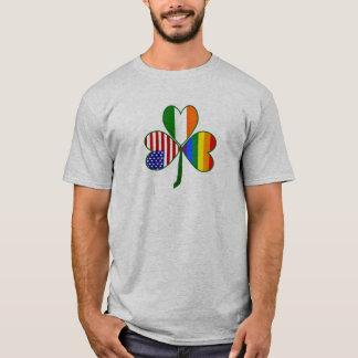 Gay prideShamrock Tee Shirt