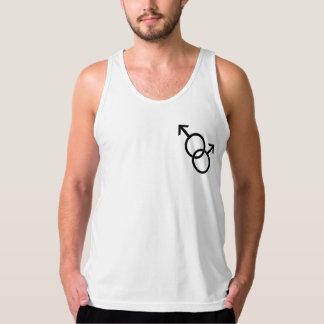 Gay prideskjortamanar Samma-Könsbestämmer Tank Top