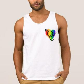 Gay prideskjortamanar tanktop för kärlek för