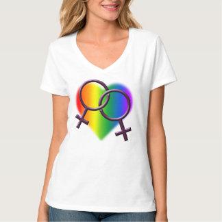 Gay prideT-tröjakvinna lesbiska skjortor för T Shirt