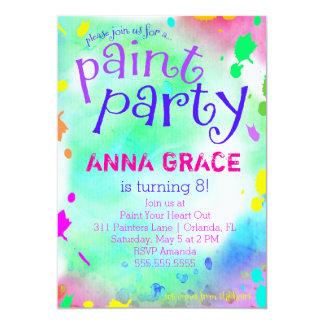 GC målar partyfödelsedag 12,7 X 17,8 Cm Inbjudningskort
