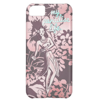GCrosor & Aqua min paradislivhawaiibo Hula iPhone 5C Fodral