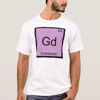 Gd - för kemiinslag för gelékarameller rolig tshirts