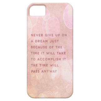 Ge aldrig upp citationsteckenfodral iPhone 5 Case-Mate cases