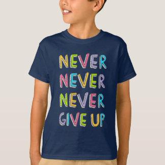 Ge aldrig upp skjortan tee shirts