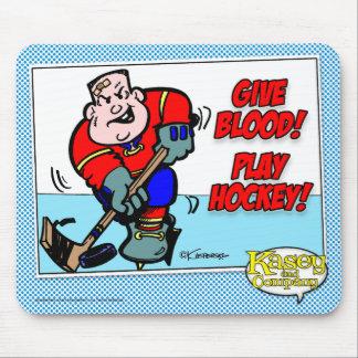 Ge blod! Leka hockey! Musmatta